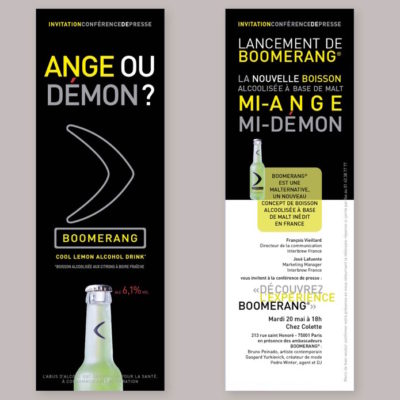 Dossier de presse lancement de la marque Boomerang