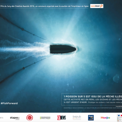 Campagne publicitaire solidaire WWF France «Bateau balle»