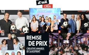 Soirée de remise des prix des Creative Awards 2016