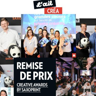 Organisation soirée remise des prix «Creative Awards by SAXOPRINT»2016