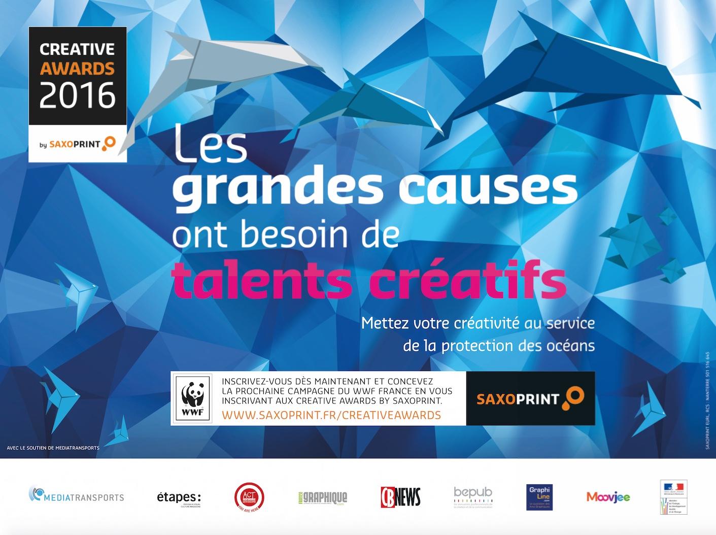 Concours de publicité grande cause Creative Awards by Saxoprint