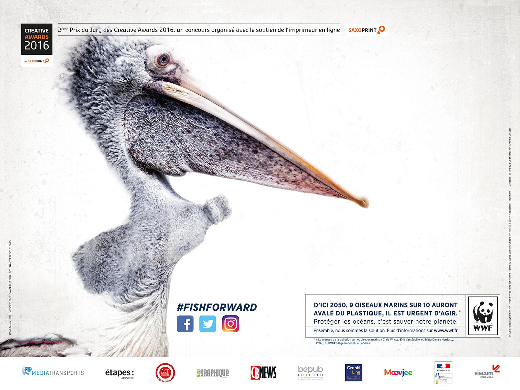 Publicité solidaire «Pélican» 2e prix du Jury Creative Awards 2016