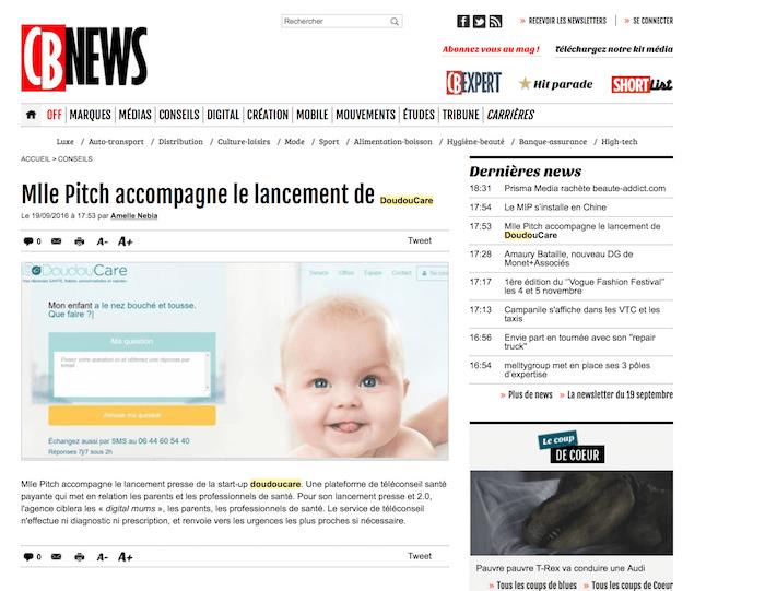 Doudoucare article Cb News