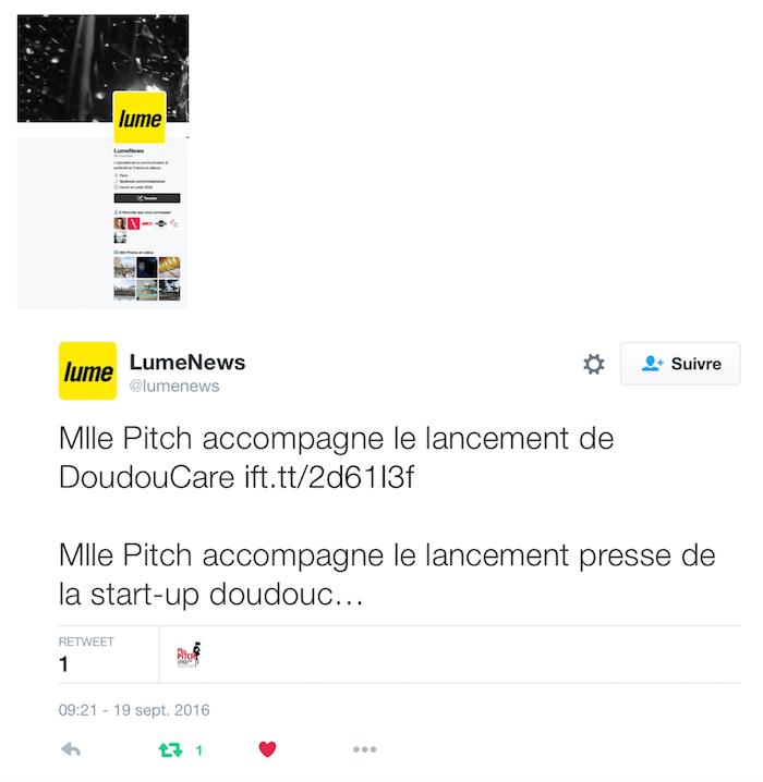 Doudoucare Lumenews Twitt