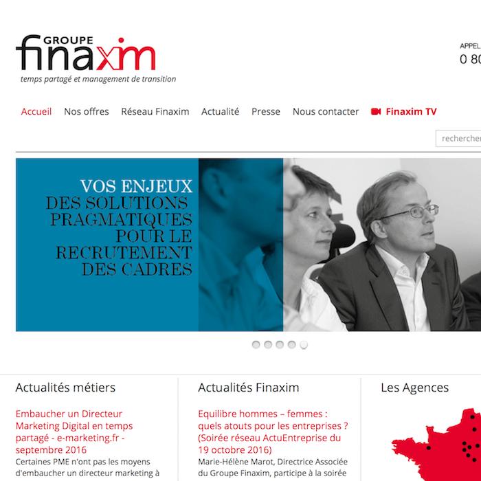 Création d'une web TV pour Finaxim