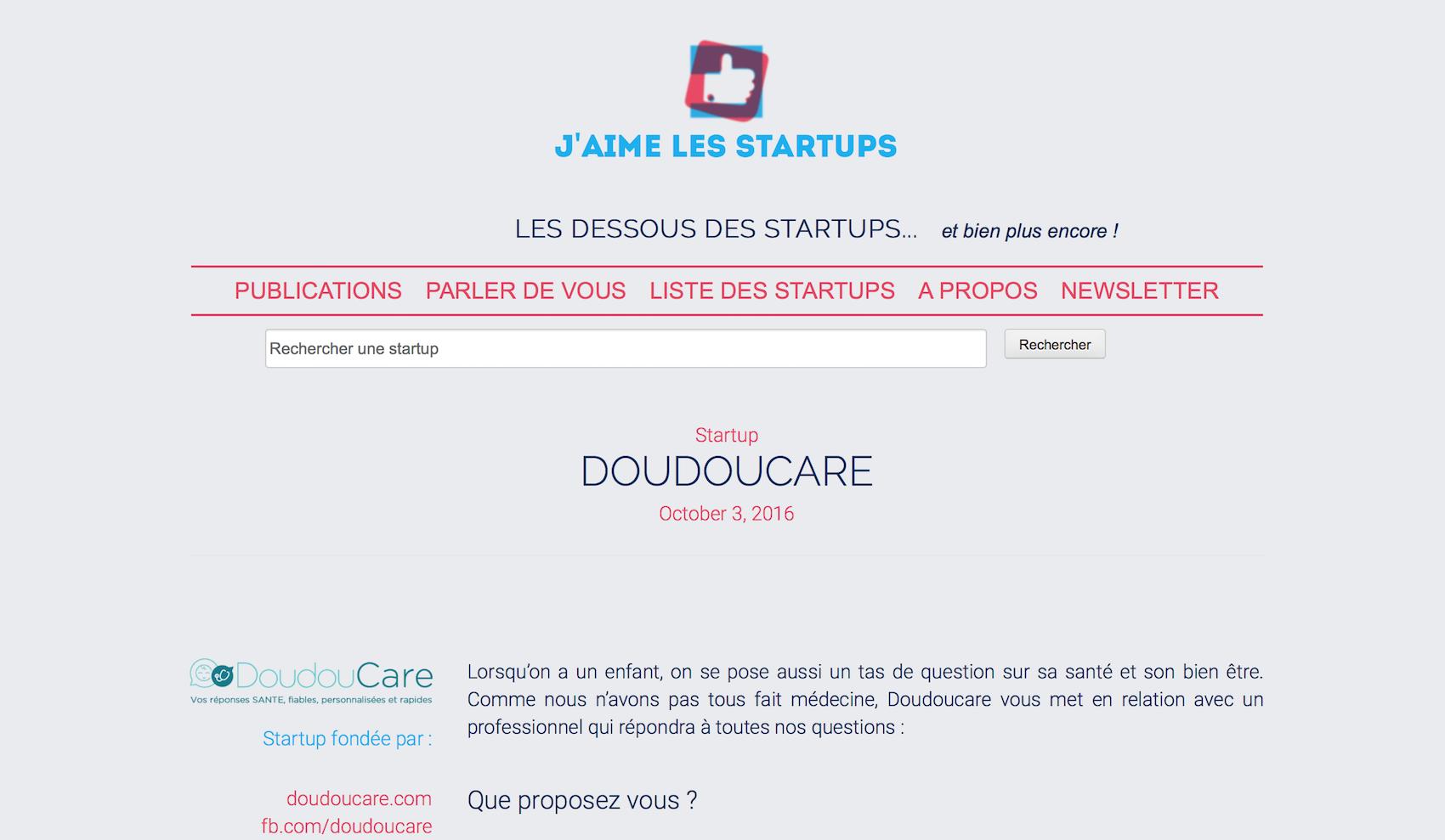 Découvrir l'article J'aime les startups