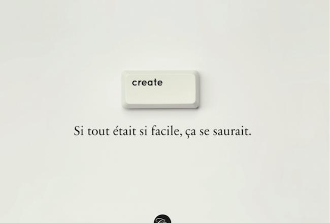 Create, si tout était si facile, ça se saurait
