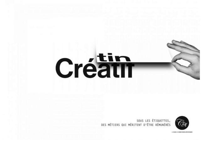 Créatif=crétin, sous les étiquettes des métiers qui méritent d'être rémunérés