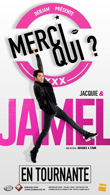 Jacquie et Jamel - affiche théâtre Merci Qui ?