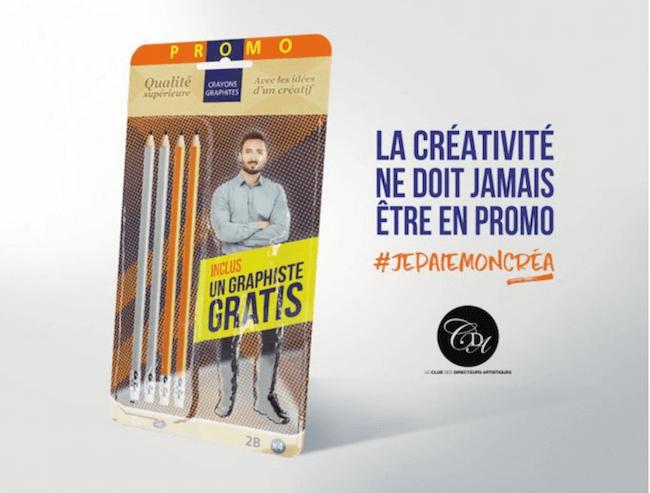 La créativité ne doit jamais être en promo