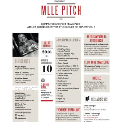 L'agence Mlle Pitch est dans les guides 2017/2018