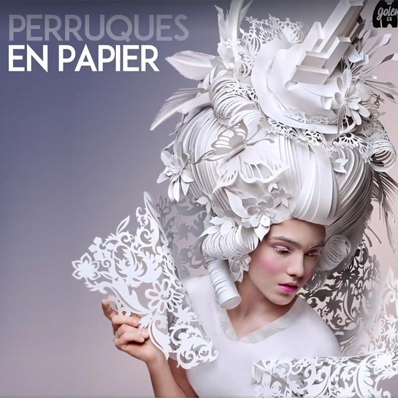 Perruque renaissance en papier