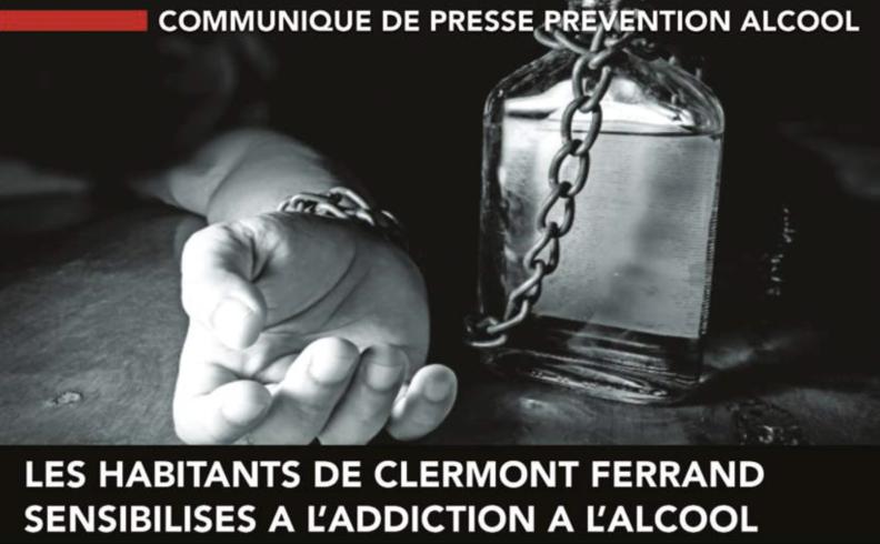 Communiqué de presse prévention alcool - Les habitants de clermont Ferrand sensibilisés à l'addiction à l'alcool