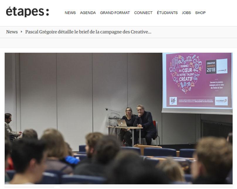 Pascal Grégoire et Magali Faget détaillent le brief de la campagne 2018 des Restos du Cœur