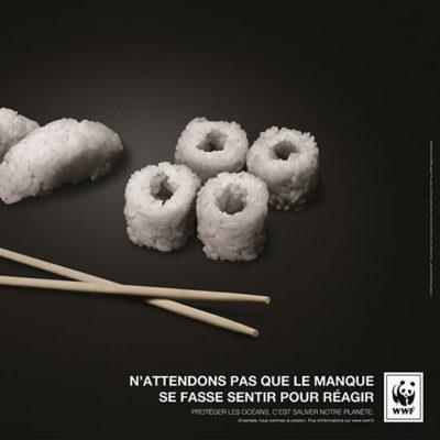 La campagne Sushi sélectionnée pour figurer dans un manuel scolaire
