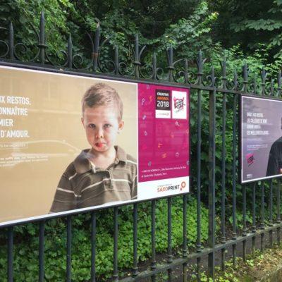 Organisation de plusieurs expositions publiques pour les Restos duCœur