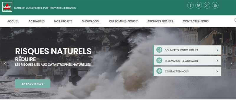 Visuel de page du site Fondation MAIF