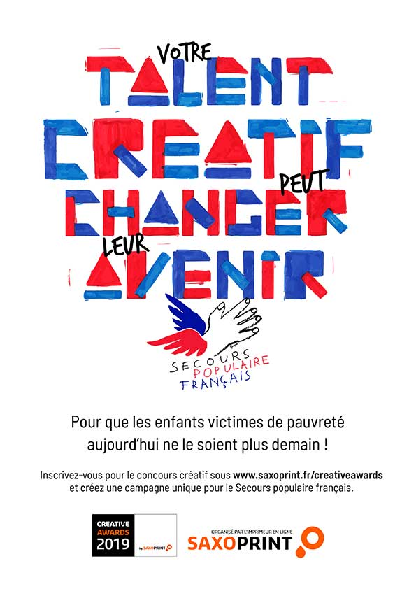 Affiche de participation aux Creative Awards 2019 by Saxoprint