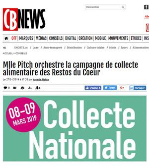 Mlle Pitch orchestre la campagne de collecte alimentaire des Restos du Coeur