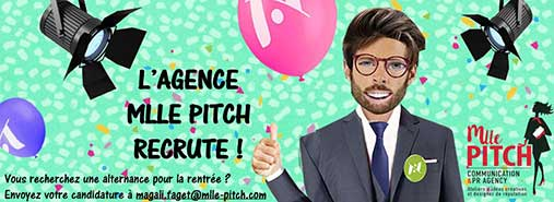L'agence Mlle Pitch recrute en 2019 !