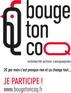Solidarité action campagne. 2€ par mois c'est presque rien et ça change tout... je participe sur www.bougetoncoq